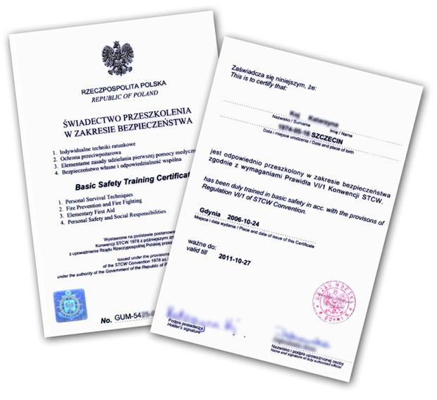 Jak wygląda certyfikat?